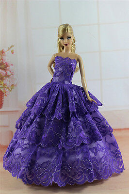 Fashion Princess Party Dress/Evening Clothes/Gown For Barbie Doll S344