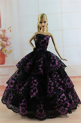 Fashion Princess Party Dress/Evening Clothes/Gown For Barbie Doll S343U