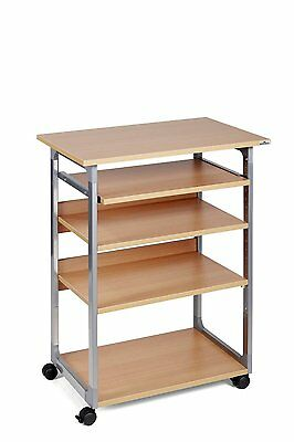 Durable 3720124 System Computer Trolley 75 VH, metallic silber / buche