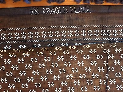 """Antique Victorian SHEER FLOCK FABRIC Black White Flowers Skirts 4 Yds 36"""""""