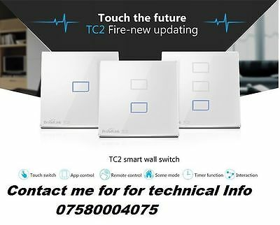 Light Switch Home Automation  Wifi 3G 4G Lte Iphone Android App Worldwide New