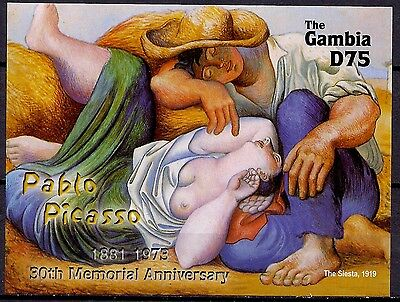 Gambia 2004 Pablo Picasso/30th Anniv of the Death Paintings Art 2v m/s MNH