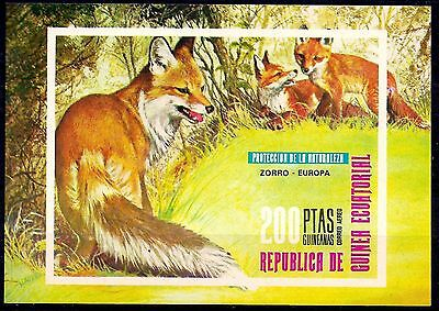 Equatorial Guinea 1976 Red Fox Animals Nature Wildlife Conservation Imperf MNH