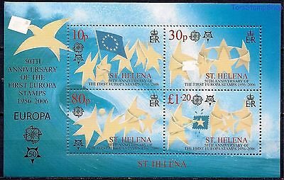 St Helena 2006 Stamp Day Mail Stars Stylized Pigeon Lettes Europa Flag m/s MNH