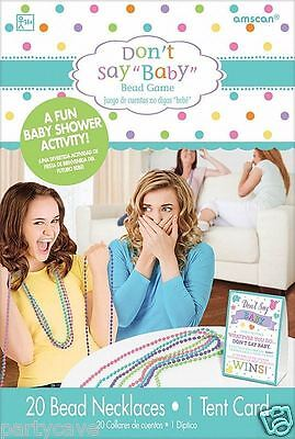 Baby Shower Party Dont Say Baby Bead Necklace Game For 20 Players