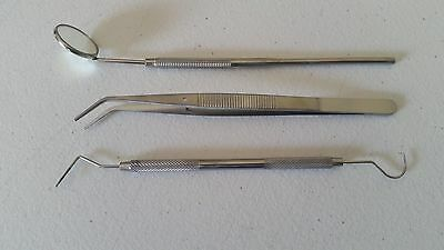 Dental Tartar Calculus Plaque Remover, Tooth Scraper, Dental Mirror & Scaler Set