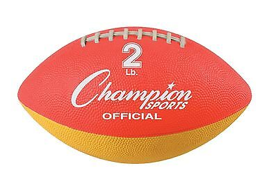 New Champion 2 lb. Weighted Training Practice Football Throw Strengthen Arm Grip