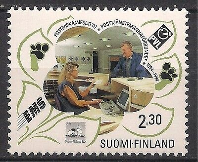 Finland 1994 Postal workers Post Office Mail Communications Computer 1v MNH