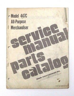 Service manual and parts catalog for Rowe Model 447C merchaniser