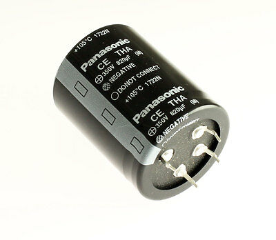 5x 820uF 250V Snap In Mount Capacitor 820mfd 250VDC 250 Volts 105C 35x40mm