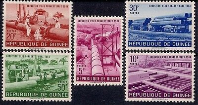 Guinea 1964 Water Supply Pipes Pumping Station Transport Truck Engineering MNH