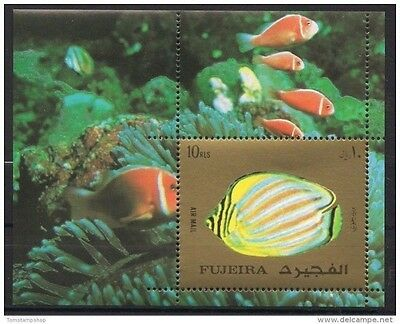 Fujeira 1972 Exotic Fish Corals Marine Life Nature Sea m/s MNH