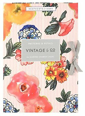 Vintage & Co Patterns & Petals Scented Drawer liners Pack of 6