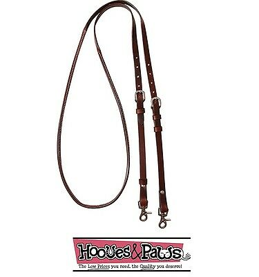 Cashel Horse Reins Adjustable Rolled And Stitched Quality Leather 8' Feet