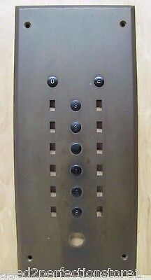 Old Brass Elevator Panel architectural building hardware Up Down B-G-1-1R-2-3