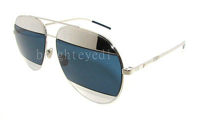 5164941d1c48 AUTHENTIC CHRISTIAN DIOR Split 1 Aviator Sunglasses 010KU  NEW ...