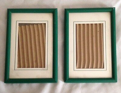 """Green Metal 4X6"""" Frame Holds 3X4"""" photo - Lot of 2 Pieces"""