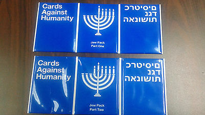 Cards Against Humanity 8 Sensible Gifts Expansion Jew Packs 1 & 2