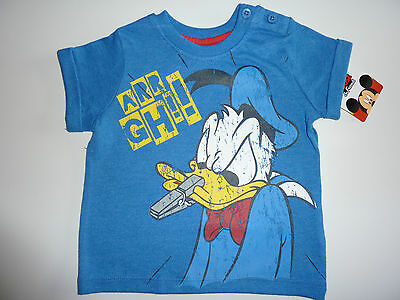 DISNEY Vintage DONALD DUCK ARRGH! Blau Distressed T-Shirt NWT