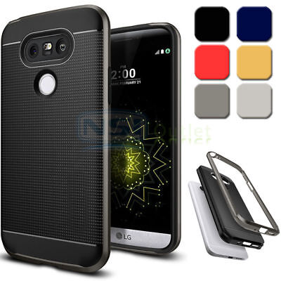 Dual Layer Rugged Hybrid Armor Bumper Case Protective Slim Thin Cover For LG G5