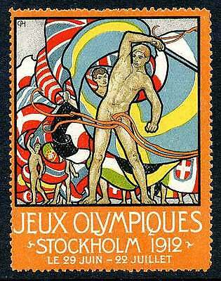 Poster Stamp - Olympics - 1912 Stockholm - DuBois #6 (French)