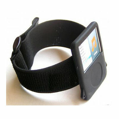 For Apple ipod shuffle nano video classic touch Black Generic Sports arm band