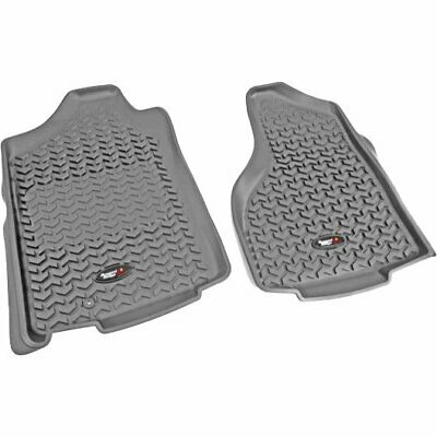 Rugged Ridge Floor Mats Front New Gray Ram Truck Dodge 1500 2500 3500 84903.01