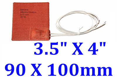 90mmX100mm 120V 6W NO 3M Silicone Heater Flexible Pad Rubber Heater One PC