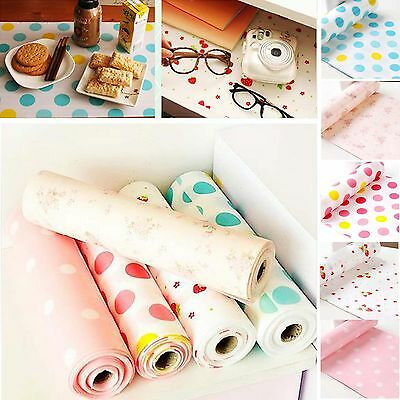 Cute Polka Dots Shelf Contact Paper Cabinet Drawer Liner Kitchen Table Mat 3M