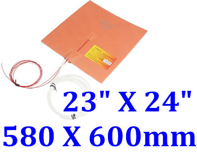 600mmX 580mm 230V 1000W with 3M W/ NTC100K  in middle Silicone Heater 1PC