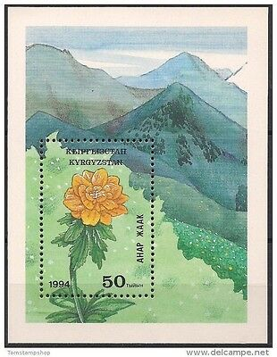 Kyrgyzstan 1994 Tien Shan Mountains Alpine Flowers Nature m/s MNH