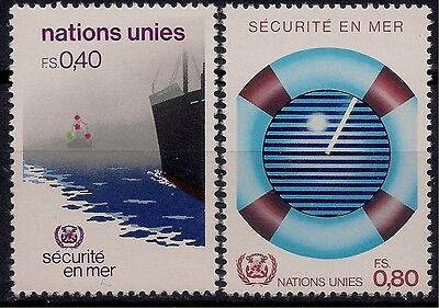 UN(G) 1983 Sea Safety Radar​ Ship Na​utical Mar​itime Boat​ Transport 2v MNH