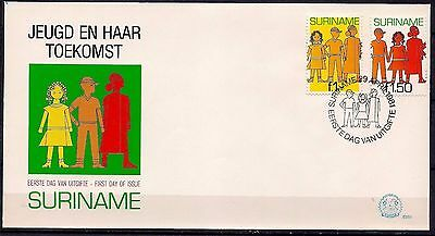 Surinam 1981 Youth and its future Animation  FDC