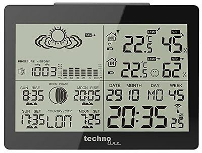 Technoline Ws 6760 Weather Station & Radio Controlled Clock Timing Signal From