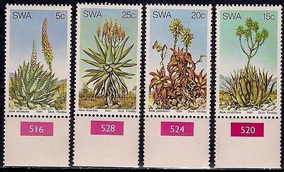 SWA 1981 Aloes Plants Succulents Cacti Cactus Nature 4v set MNH/2