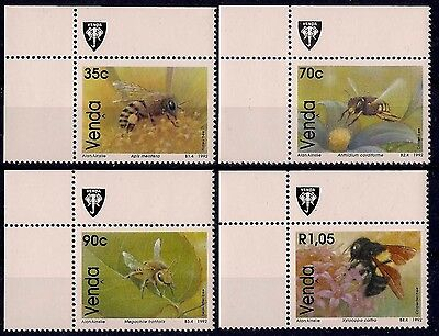 Venda 1992 Bees Insects Nature Flowers StampEx 4v set MNH