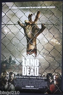 Land Of The Dead Original 1 Sheet Poster * Signed By George A Romero * Zombie