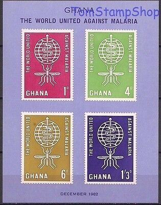 Ghana 1962 Malaria Eradication Medical Insects Health Mosquitoes Welfare m/s MNH