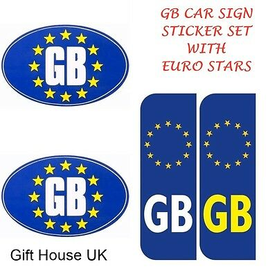 Latest Gb Uk Car Sign With Number Plate Sign Stickers Travel Vehicle Sticker B2