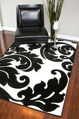 Rugs Area Rugs Carpets Black And White Modern Big Floor Cool Large