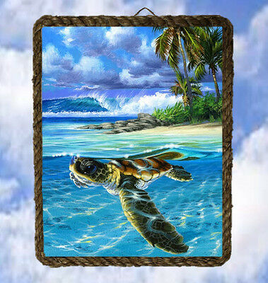 Tropical Ocean 43 Beach Wall Decor Art Prints Sea Turtle lalarry Wood Signs