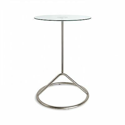 Umbra Tempered Glass/Steel Loop Side Table 320612-410