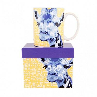 Giraffe Coffee Cup Fine Bone China Mug Wild Animals Ashdene 12 oz Gift Box New