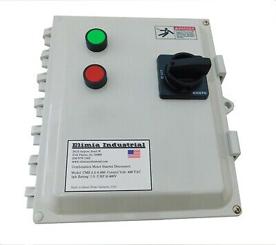 Elimia Combination Motor Starter 208-230V 9 - 13 Amp 3 HP Waterproof Dis CB