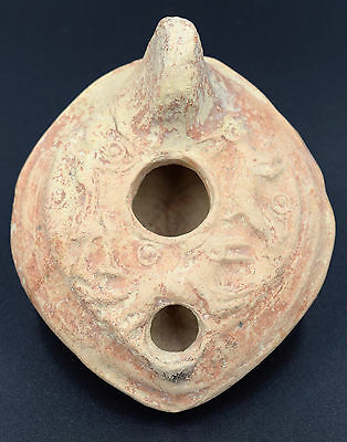 A Rare Byzantine Terracotta Oil Lamp