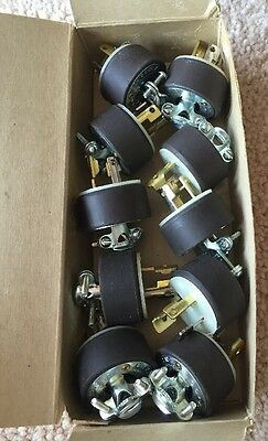 Lot Of 10 HUBBELL 4720 Twist-Lock Grounding Rubber Caps 3-wire Lot Of 10