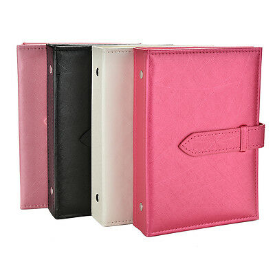 1X PU Leather Stud Earrings Collection Book Pattern Portable Jewelry Display