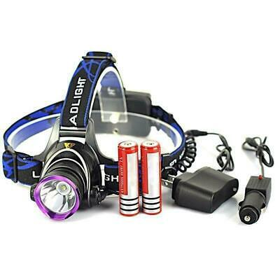 5000LM XM-L T6 LED Rechargeable Headlight Head Lamp + 2Pcs 18650 + Charger US