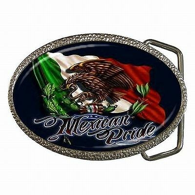 Mexican Pride Mexico Flag Latino Belt Buckle New!