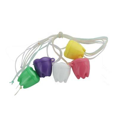 5PCS First Tooth Box Container Saver Teeth Holder String Necklace Keepsakes
